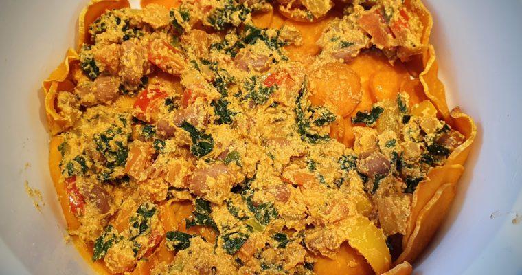 Mediterraanse creamy tofu ovenschotel